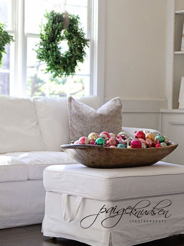 Ornaments in Large Dough Bowl
