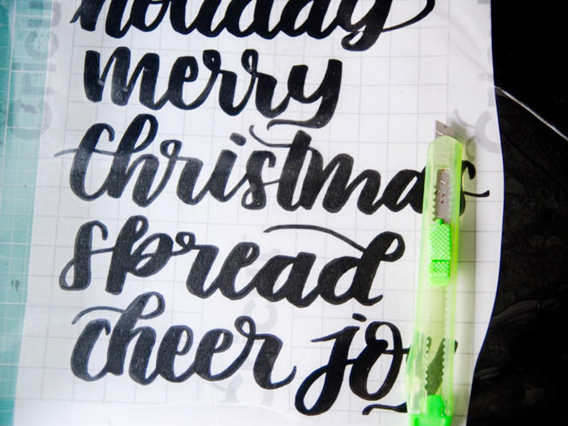 Cricut Letter Vinyl