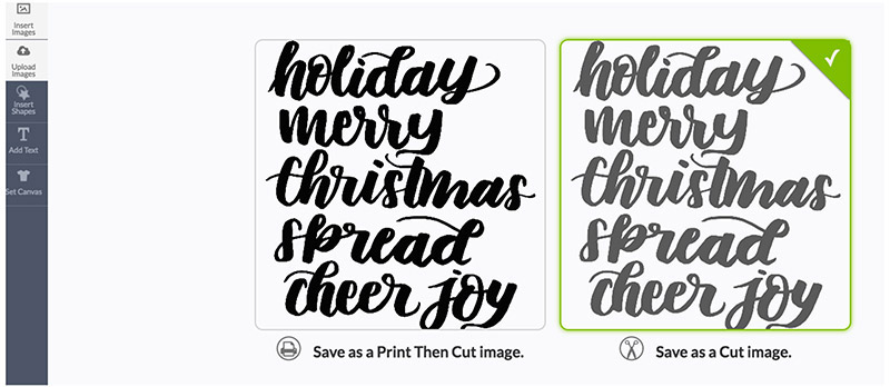 Design Space Holiday Text