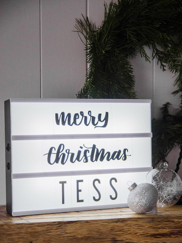 Personalized Holiday Lightbox