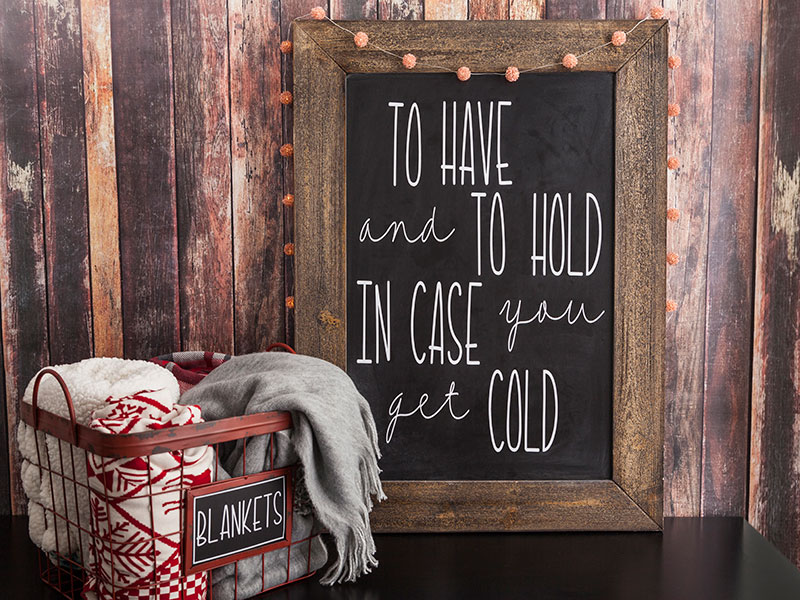 In Case You Get Cold Sign