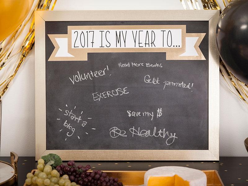 Resolutions Chalkboard