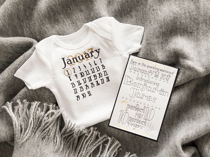 New Years Baby Announcement