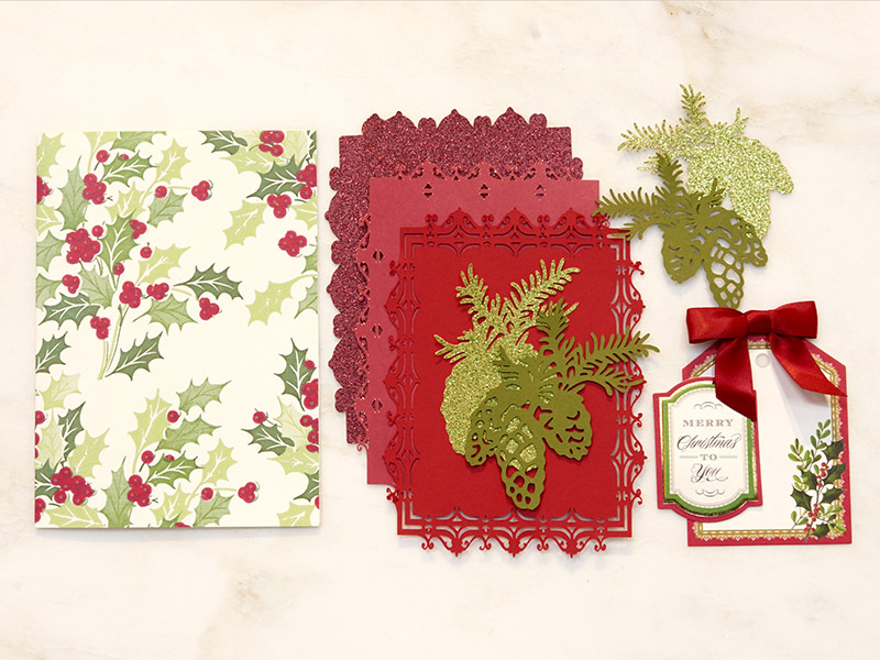 Holiday Flourish Card Materials
