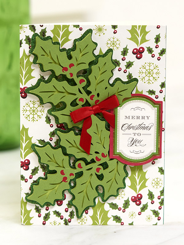 Holly Swirls Card
