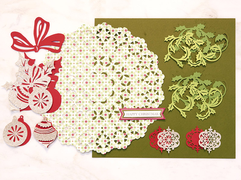 Holly Swirls Scrapbook Page