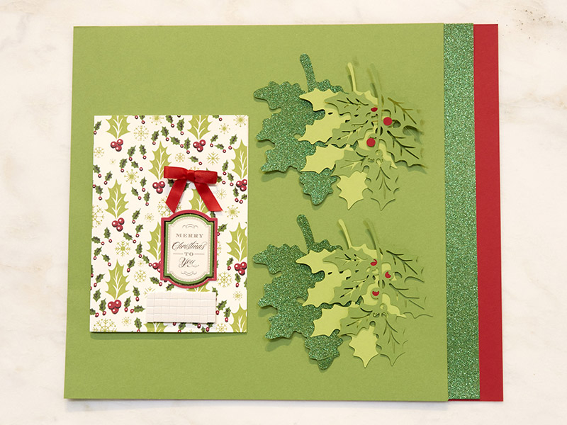 Holly Swirls card Materials