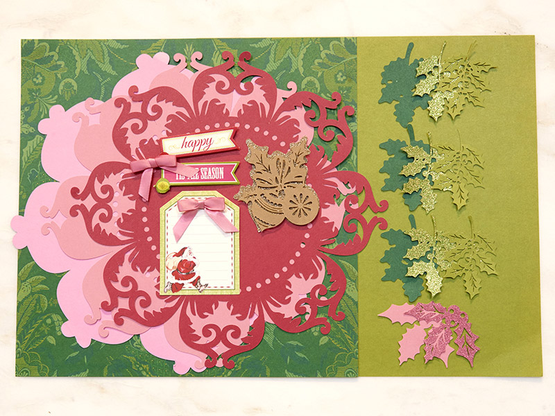 Perfect Poinsettia Scrapbook Page  Materials