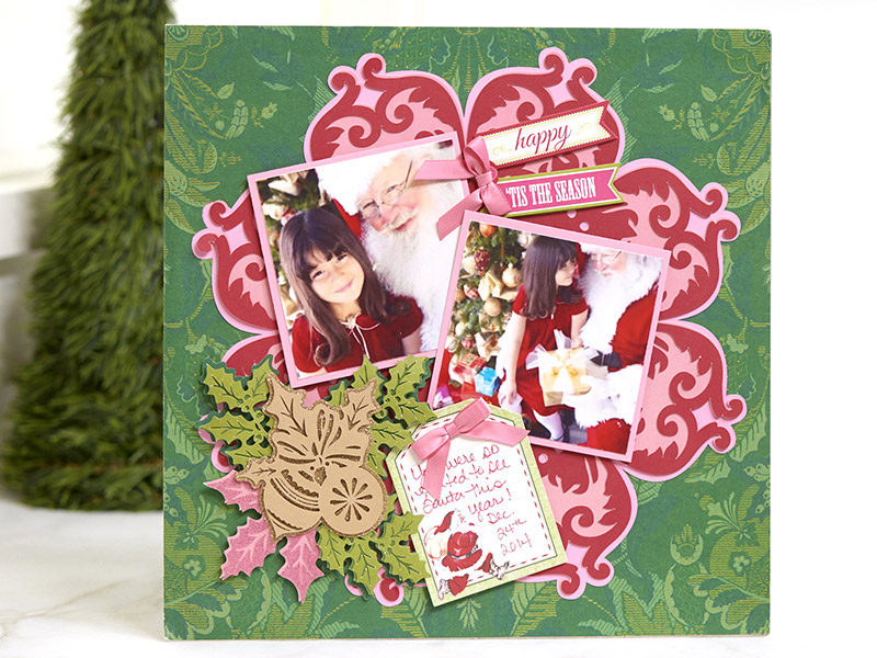 Perfect Poinsettia Scrapbook Page