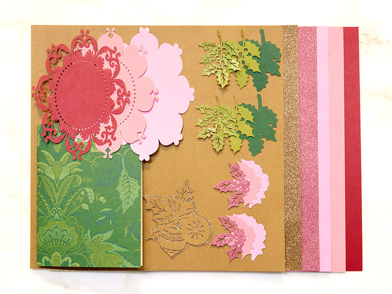 Perfect Poinsettia card Materials