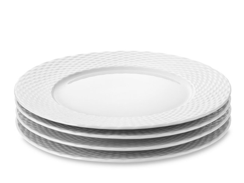 Williams Sonoma Pillivuyt Basketweave Dinner Plate/ Set of 4 $119.95 available at williams-sonoma.com