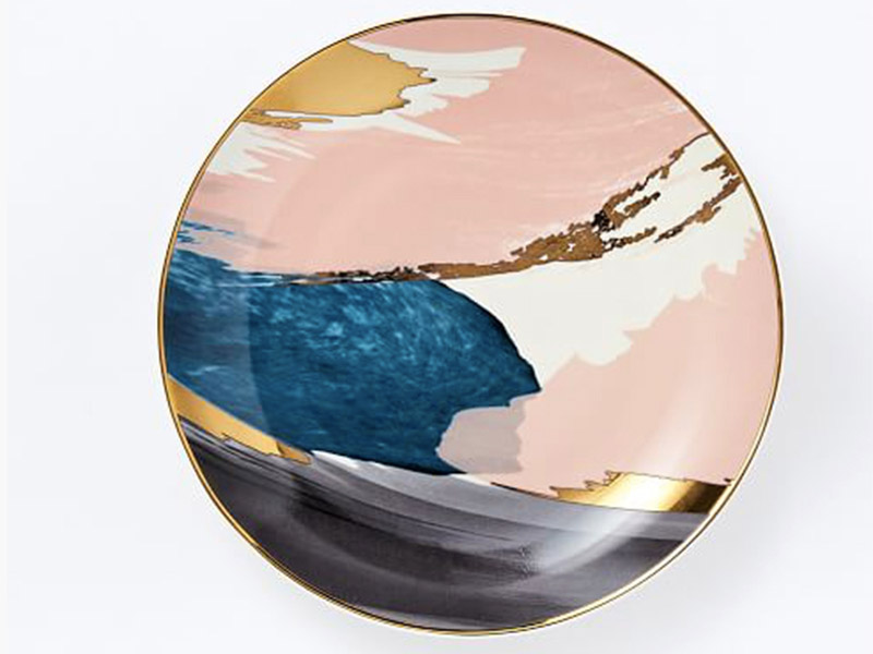 West Elm Abstract Brushstroke Salad Plate $12.00 available at westelm.com