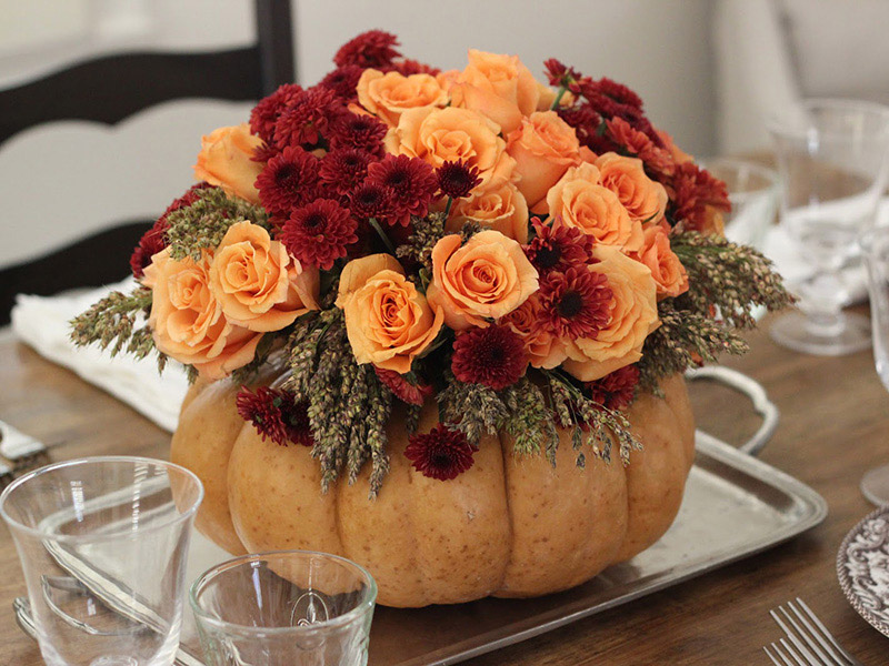 Pumpkin Flower Centerpiece