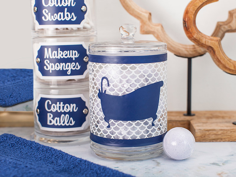 Powder Room Jar Wrap