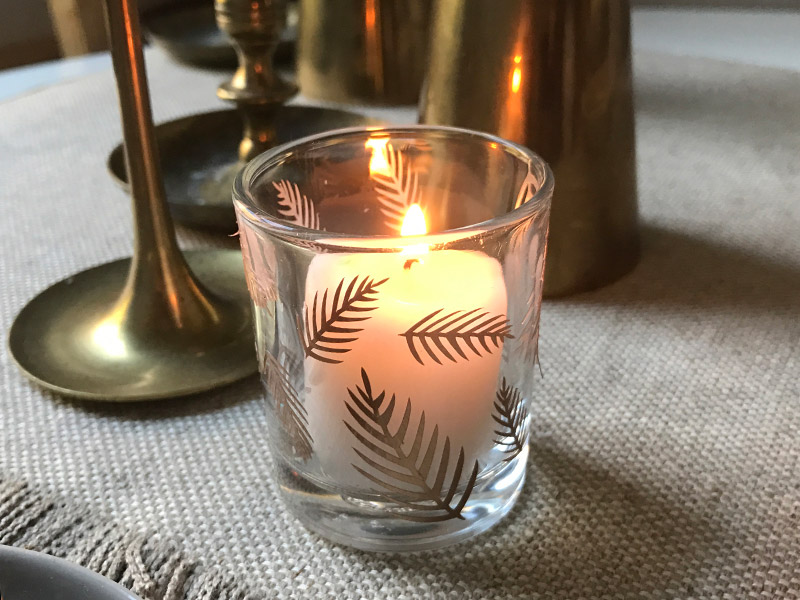Leaf Palm Candle