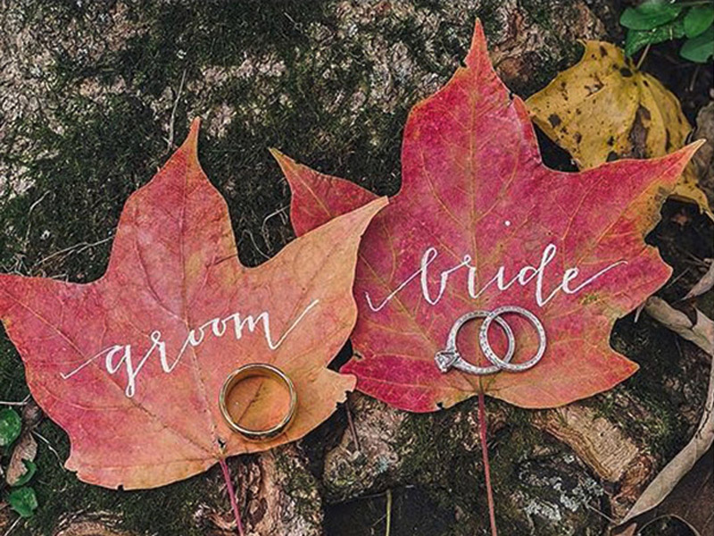 Bride and Groom Leaf