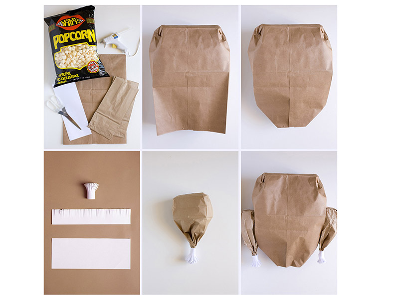 Turkey Popcorn Bag