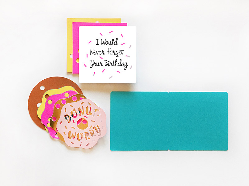 Donut Card Pieces