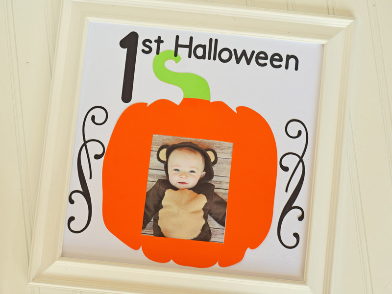 First Halloween Photo Frame