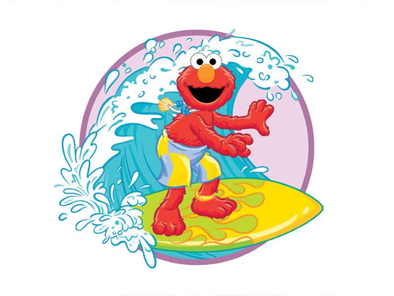 Playday Elmo Surfing