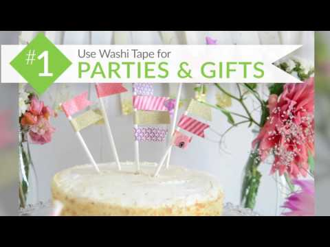 Embedded thumbnail for 5 Ways to Use Washi Tape