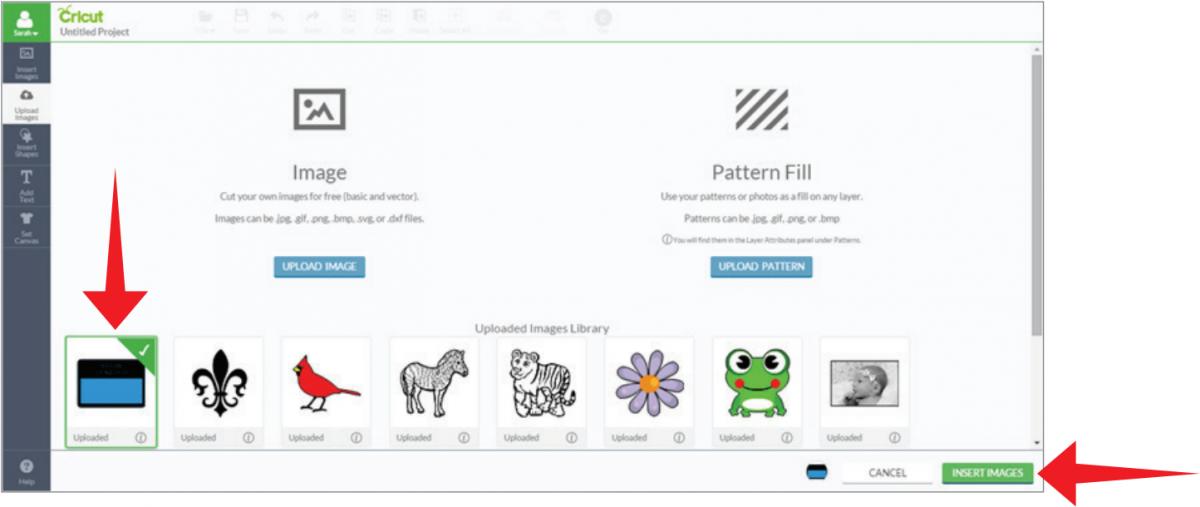 Uploading images ( jpg,  gif,  png,  bmp,  svg,  dxf files) | Cricut